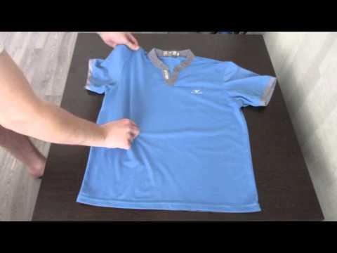 Как быстро сложить футболку. (how to quickly fold shirts)