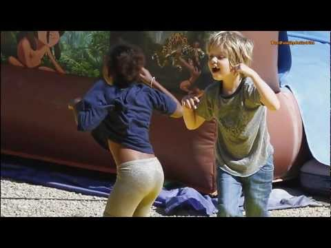 NEWS- Jolie-Pitt's kids playing - Pax, Zahara, Shiloh and twins Vivienne and Knox