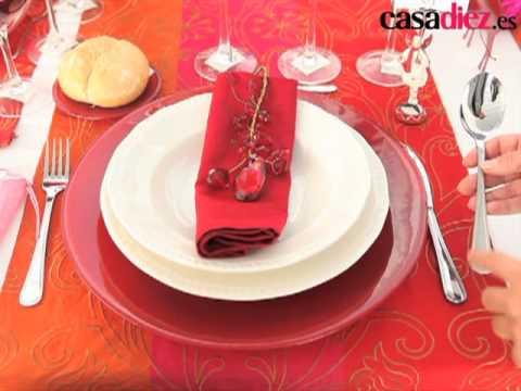 Aprende a decorar mesas navide as 1 youtube - Como adornar la mesa en navidad ...