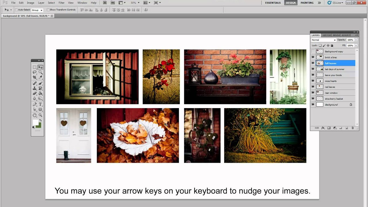 how to do a collage in photoshop tutorial