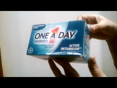 One-A-Day Womens Active Metabolism Multivitamin / Multimineral Supplement - 100 Tablets