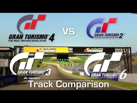 GT2 vs GT3 vs GT4 vs GT6 - Apricot Hill Raceway Comparison [4k]
