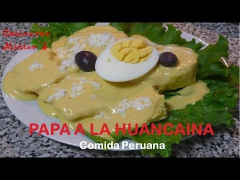 PAPA A LA HUANCAINA - RECETAS - COMIDA PERUANA