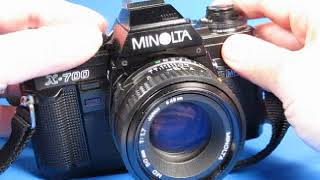 Minolta X 700 35mm Film SLR with 50mm 1 7 Lens