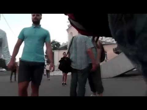 Gay Couple Walk in Minsk. Social Experiment