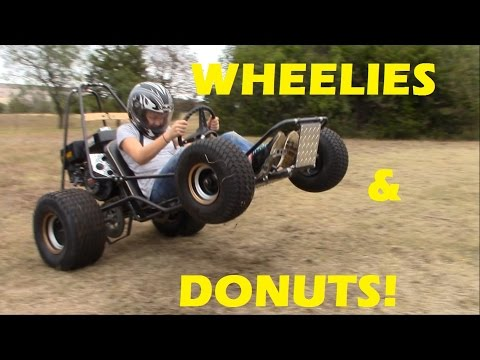 Go Kart Wheelies and Donuts