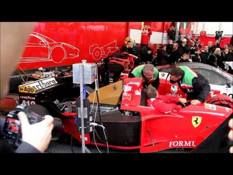 From the Internationale Racing Festival in Roskilde, Denmark 2014, former F1 race-driver Jean Alesi's Ferrari 412 T2 from 1995, testing it's skills at the street by race-driver Jan Magnussen....