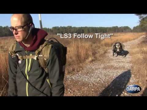 MilitarySkynet.com News - Strong Ass LS3 Four-Legged Robot Plays Follow the Leader