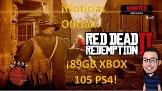 Read Dead Redemption 2 pesa 89 y 105 GB noticias