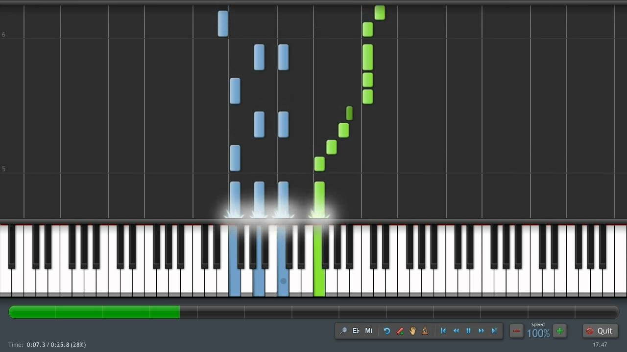 how to play alouette on piano