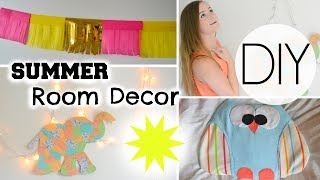 DIY Colorful Summer Room Decorations!