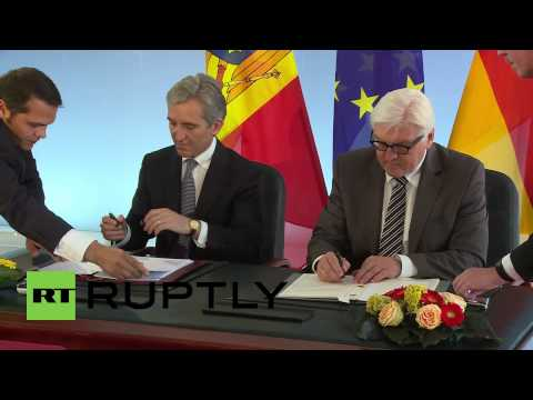 Germany: Steinmeier and Leanca sign framework agreement