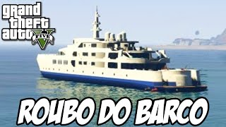 GTA V Nova Geração - Roubo do Barco em primeira pessoa