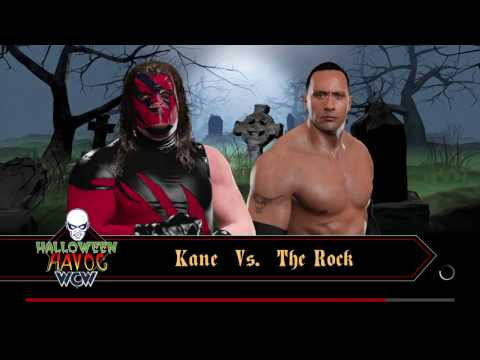 WWE 2K17 the rock vs kane Halloween havoc thumbnail