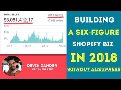 How To Build A Six Figure Shopify Business In 2018