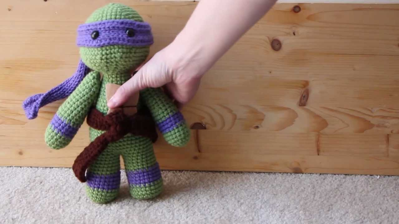 Amigurumi Ninja Turtle : Donatello TMNT Amigurumi - YouTube