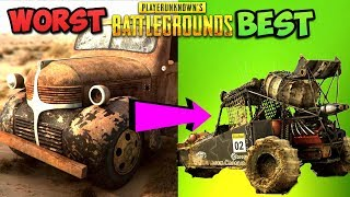 RANKING EVERY VEHICLE IN PUBG FROM WORST TO BEST! - PlayerUnknownsBattlegrounds