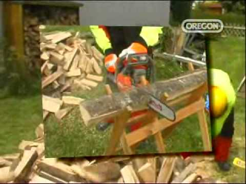 log cutting sawhorse