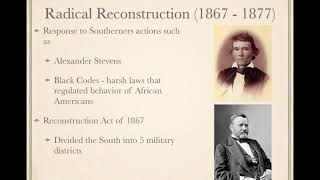 APUSH Review: Reconstruction (Updated)