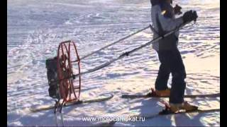 "АэроТолкач лыжника ""Ирбис"" 2013/aero-pusher for skiers"