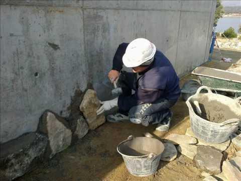 Piedra natural granito musgo rustica imitacion - Muros de piedra natural ...