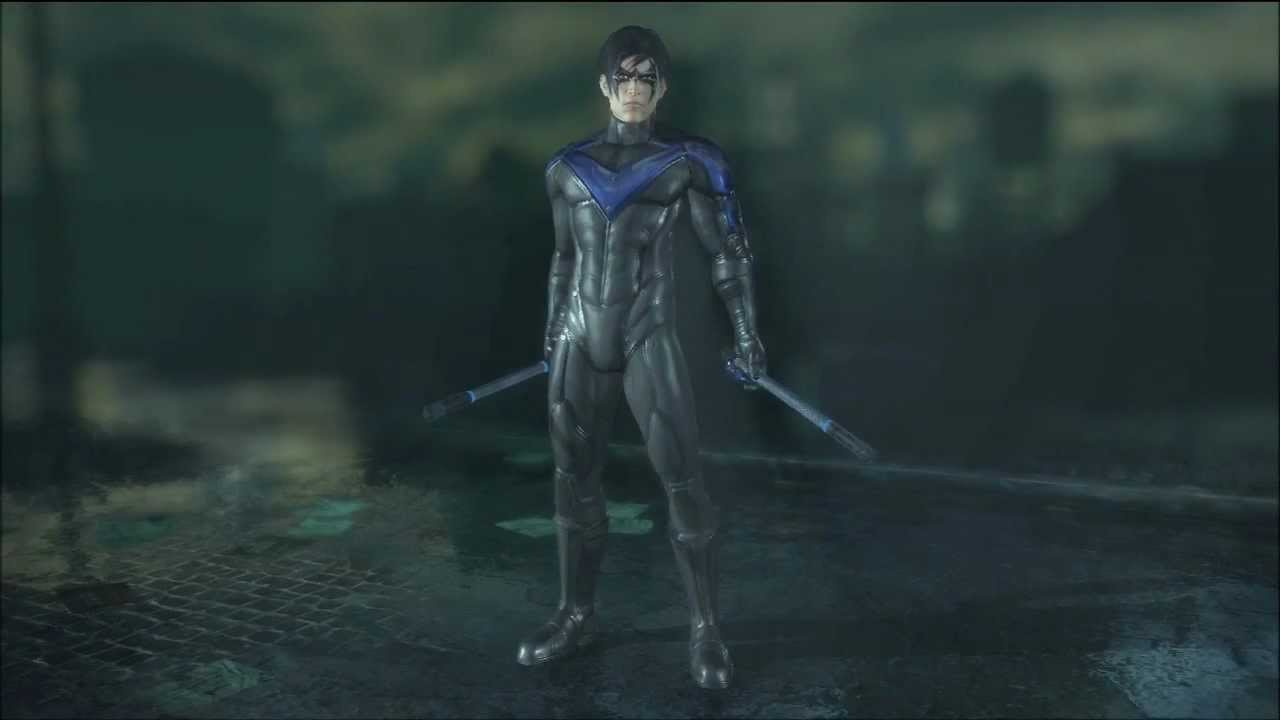 Batman: Arkham City Nightwing Skins - YouTube