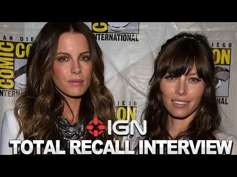 Total Recall - Jessica Biel and Kate Beckinsale