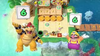 Super Mario Party Partner Party #384 Watermelon Walkabout Koopa Troopa & Yoshi vs Bowser & Wario