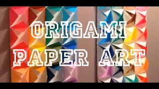 Diy: Origami Paper Art - Art For The Non-artist
