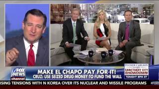 Build the Wall and Make El Chapo Pay for it | Ted Cruz on Fox and Friends