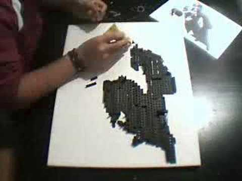 Painting with Lego - Louis Armstrong