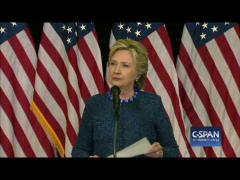 Hillary Clinton News Conference on FBI investigation (C-SPAN)