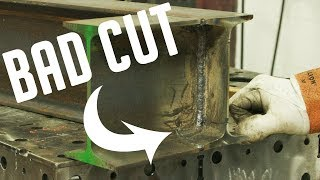 Welding our Incorrectly Cut I-Beam