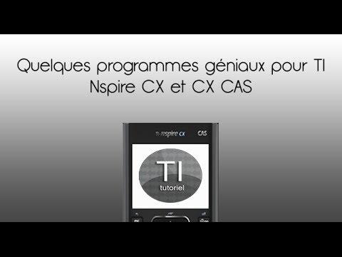 Quelques programmes géniaux pour TI Nspire CX et CX CAS
