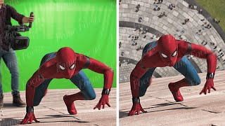 Amazing Before and After Hollywood VFX: Spiderman Homecoming