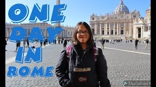 Travel vlog 1 : jalan-jalan di Roma | one day trip in Rome | italia | Italy