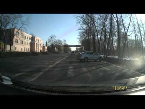 ДТП на обочине, Хабаровск (24-02-2013)