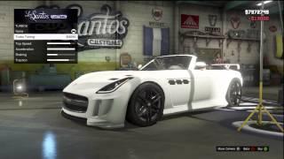 GTA 5: FULLY CUSTOMIZED Jaguar F-Type, Mercedes SLS (Benefactor Surano) Los Santos Customs+Gameplay