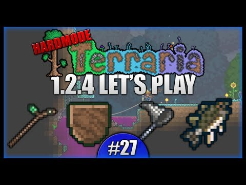 1.2.4 Update! Weapon Racks! New Fishing!    Let's Play Terraria 1.2.4 [Episode 27]