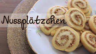 NUSSPLÄTZCHEN BACKEN | Plätzchen Rezepte für Weihnachten [einfach] Adventskalender #16