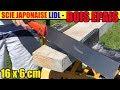 scie japonaise powerfix lidl test bois épais Japanese saws Japansäge