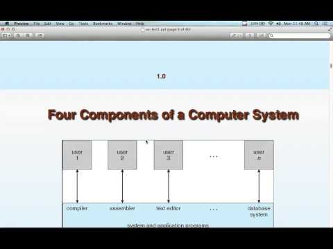 Operating Systems - Lecture 1