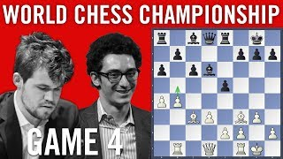 World Chess Championship 2018 Game 4: Magnus Carlsen vs Fabiano Caruana