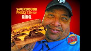 BURGER KING® Sourdough Philly Cheese King Review!