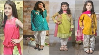 Top Amazing #Stylish Little Girls Dresses Design Collection 2018-19