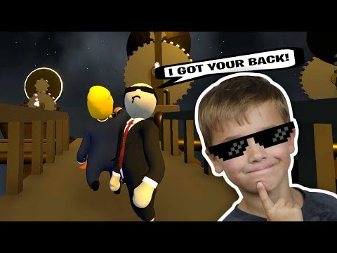 Download  MR. PRESIDENT AND BODY GUARD WORKING TOGETHER TO ESCAPE SECRET FACTORY in HUMAN FALL FLAT Gratis, download lagu terbaru