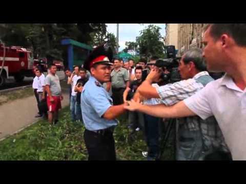 Raw: Gas Tanker Causes Kazakhstan Building Fire