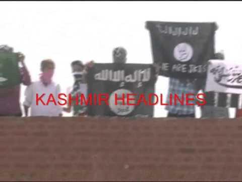 HM flags hoisted in Jamia Masjid Sinagar