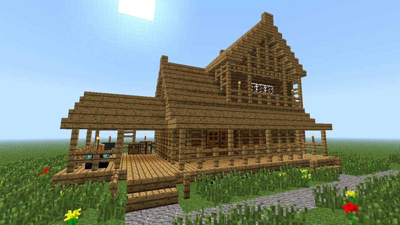 minecraft wooden house construction handbook