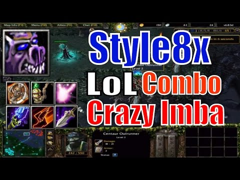 DotA 1 Geomancer LoL Combo Imba Meepo-DotA 6.83d Style8x
